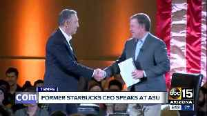 Former Starbucks CEO speaks at ASU [Video]