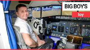 Plane-loving father of two builds flight simulator in dining room [Video]