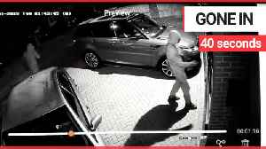 Three masked thieves steal £60,000 keyless car from driveway [Video]