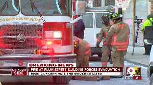 Downtown building evacuated due to fireo [Video]