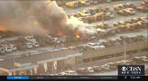 Vehicle Fire At Newark Airport [Video]
