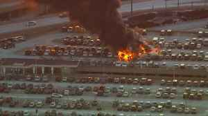 Cars engulfed in flames at Newark Airport [Video]