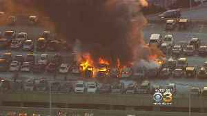 Vehicles Go Up In Flames At Newark Airport [Video]