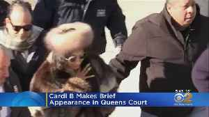 Cardi B Makes Brief Court Appearance [Video]