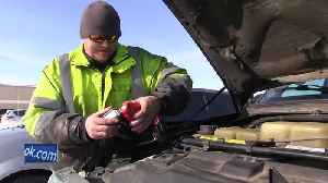 Tow truck drivers busy during the cold snap [Video]