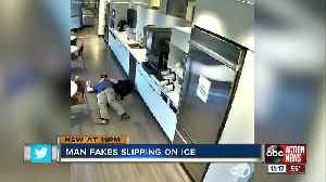 VIDEO: Man accused of faking slip and fall in office cafeteria [Video]