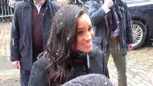 Prince Harry and Meghan Markle meet Bristol well-wishers in the snow [Video]