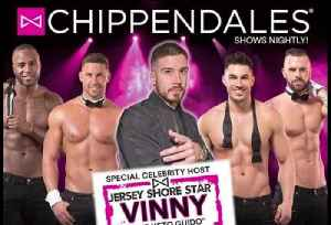 Jersey Shore Vinny hosting Chippendales [Video]