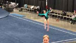 Girl Gymnast Does Amazing Tumble Routine at Floor Show [Video]