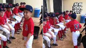Little league player 'fires up' team before a big game [Video]