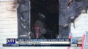 Three Townhomes Damaged In Middle River Fire [Video]