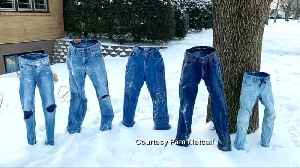 Frozen pants go viral in freezing Midwest [Video]