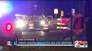 Gas line leak capped after explosion in midtown Tulsa [Video]