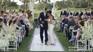 Man with severe spinal cord injury walks on his wedding day [Video]