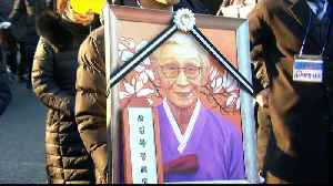 S Koreans gather at Japan embassy for funeral of 'comfort woman' [Video]