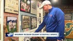His basement is a Buffalo Sports Museum [Video]