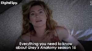 Everything you need to know about Grey's Anatomy season 16 [Video]