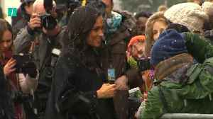 Crowds In Bristol Brave Snow To See Harry And Meghan [Video]