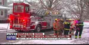 Two people taken to hospital after house fire in Overlea [Video]