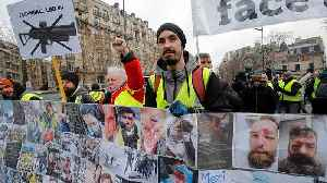 'Gilets jaunes' hold 12th weekend of protests, denounce police violence [Video]