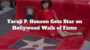 Taraji P. Henson's Hollywood Walk Of Fame Highlights [Video]