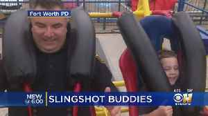 Brave 6-Year-Old Would Only Get On Rodeo Ride If Fort Worth Officer Joined Him [Video]