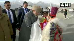 PM Modi greets locals in Leh, to lay foundation stone of new airport terminal [Video]
