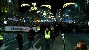 Tens of thousands of people rally across Serbia for the ninth Saturday in a row [Video]