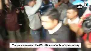 Detained CBI officers released by Kolkata police after brief questioning [Video]