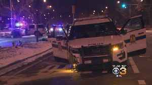 Police Officers Injured In Pursuit Of Robbery Suspects [Video]