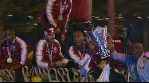 Triumphant Qatari football team celebrated for historic win [Video]