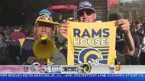 Super Bowl Sunday: LA Rams' Fans Out In Full Force In Atlanta [Video]