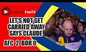 Let's Not Get Carried Away Says Claude - Arsenal 4 Newcastle 1 [Video]
