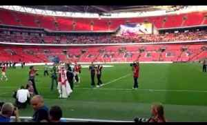 FA Cup: Jack Wilshere Showing The Fans The FA Cup [Video]