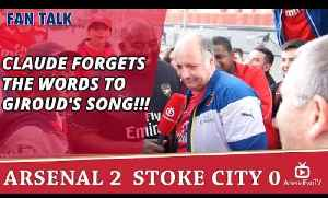 Claude Forgets The Words To Giroud's Song!!! | Arsenal 2 Stoke 0 [Video]