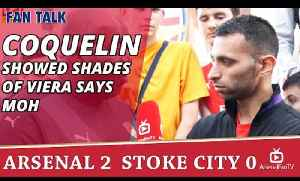 Francis Coquelin Showed Shades Of Viera says Moh | Arsenal 2 Stoke 0 [Video]
