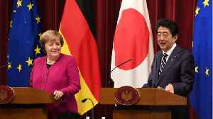 Japan PM Abe & Merkel Meet [Video]