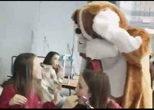 Top Dog: Emotional Homecoming as Coast Guard Surprises Daughter During Her School Lunch [Video]