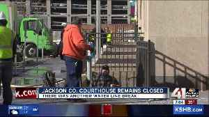 Jackson County downtown courthouse to remain closed Monday after another water line break [Video]