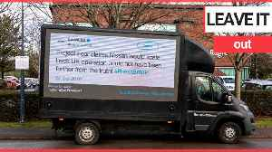 'Remainers' protest van displays historic tweets by Leave.EU [Video]