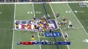 Go inside New England Patriots linebacker Kyle Van Noy's helmet as he motors down Goff for a huge loss | True View [Video]