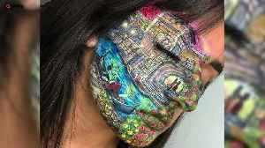 Teen artist paints jaw dropping creations on face [Video]