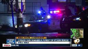 2 SDPD cars damaged during pursuit [Video]