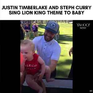 Epic moment where Justin Timberlake sings Lion King theme song with strangers baby [Video]