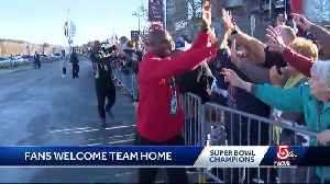 Fans welcome the Patriots home [Video]