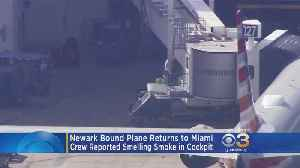 Newark Bound Plane Returns To Miami After Crew Reported Smelling Smoke In Cockpit [Video]