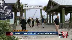 Construction begins on new Anna Maria Pier after Hurricane Irma damage [Video]