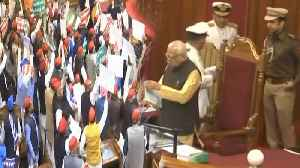 Opposition hurls paper balls during Governor Ram Naik's address in UP Assembly | Oneindia News [Video]