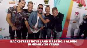 The Backstreet Boys Hit Number 1 Again After 20 Years [Video]