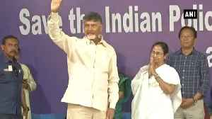 CBI Row: Chandrababu Naidu joins 'Save the Constitution' dharna in Kolkata [Video]